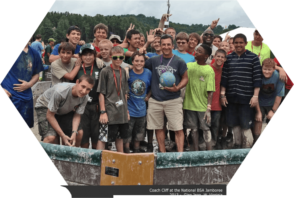 Bedford Tech partnered with Coach Cliff to bring the joys of Gaga Ball to the 2013 Boy Scout Jambore