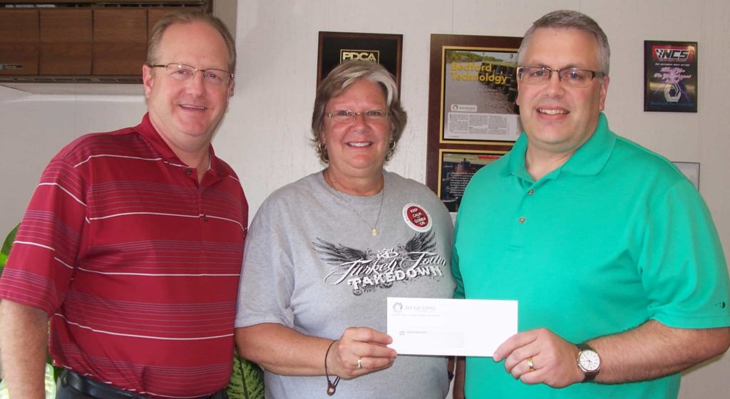 Hurricane Relief Funds raised by Bedford Technology