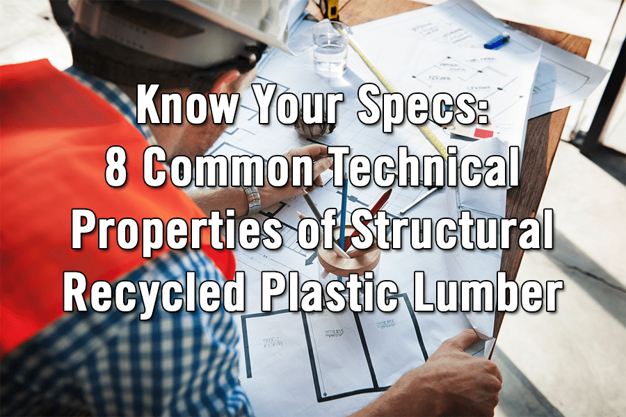 Structural Recycled Plastic Lumber Technical Characteristics cornerstone Image