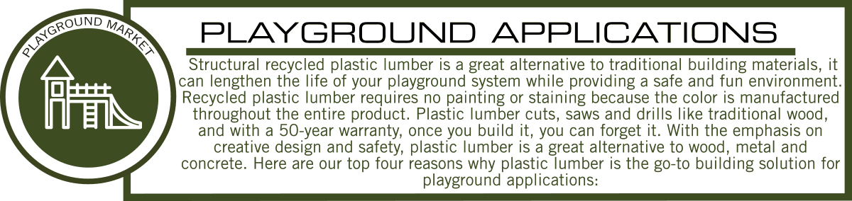 Structural Plastic Lumber for Playground Applications